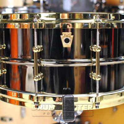 Ludwig B-Stock : Black Beauty Snare Drum w/ Brass Trim 6.5x14