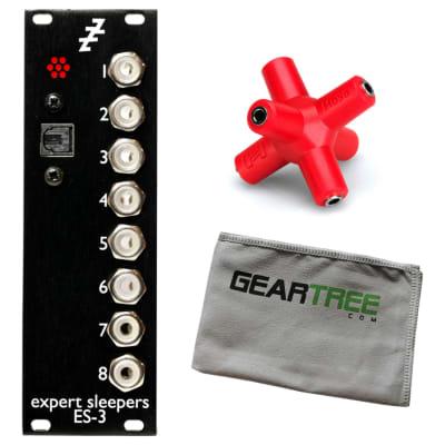 Expert Sleepers ES-3 mk4 Lightpipe/CV Interface Eurorack Module Bundle w/Knucklebone