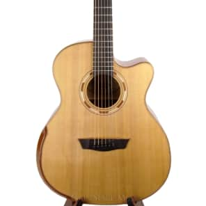 Washburn WCG66SCE Comfort Series Grand Auditorium with Electronics Natural
