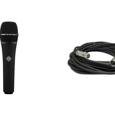 New TELEFUNKEN Elektroakustik M80 Dynamic Live Stage Vocal Microphone BLACK + FREE XLR Mic Cable!