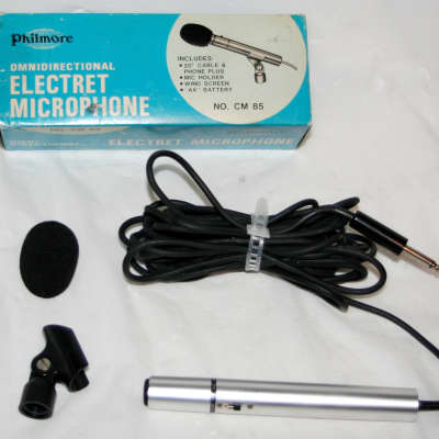 Philmore No CM 85 Omni Directional Electret Powered Microphone & 1/4 Cable 600-Ohm 50-16000 Hz