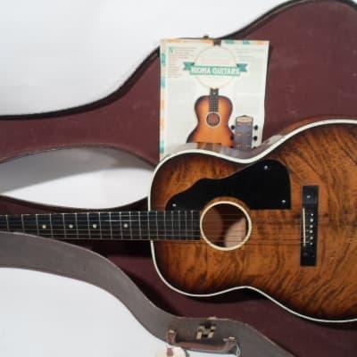 Nioma Dreadnaught Acoustic Flattop Rare Version 1930's Sunburst w Cardboard Case for sale