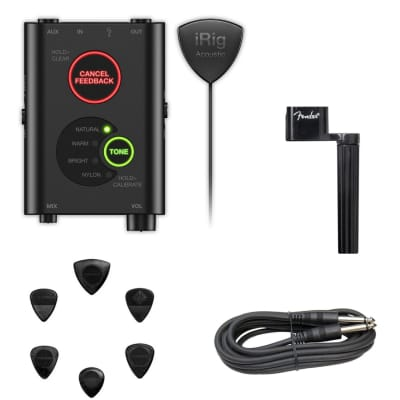 IK Multimedia iRig Acoustic Stage Mobile Instrument Microphone/Interface for iOS