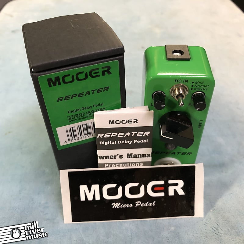 Mooer Repeater Digital Delay Micro Effects Pedal w/ Box