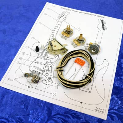 Angela Instruments 5-Way SRV CRL Deluxe Wiring Kit For Stratocaster With CTS 450G Pots, .022uF, More