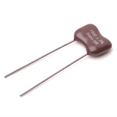 5 pack Silver Mica Capacitors 1000 pF  ( 0.001 uF )  500V epoxy dipped caps for guitars and amps