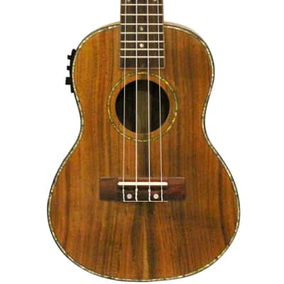 Sawtooth Koa/Acacia Concert-Electric Ukulele with Preamp, Natural Satin for sale