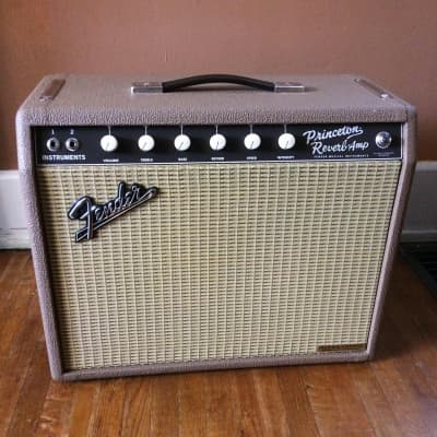 Alessandro  Handwired Fender 65 Princeton Reverb Fudge Brownie tolex for sale