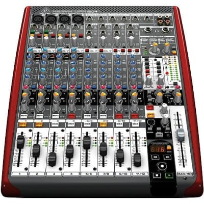Behringer UFX1204 Premium 12-Input 4-Bus Mixer w/ 16x4 Firewire Interface 16-Track USB Recorder &Vid