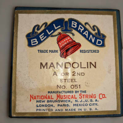 Bell Brand Silver Toned Mandolin and Hawaiian Strings ~1950's