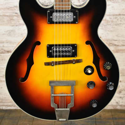1960's Kapa Semi-Hollow Made in Germany Sunburst Luthier Project Free Shipping for sale