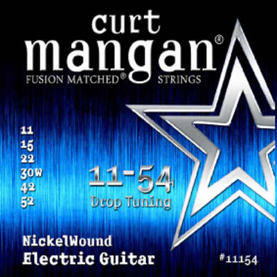 Curt Mangan 11-54 Fusion Matched Nickelwound Electric Guitar Strings-Free Shipping