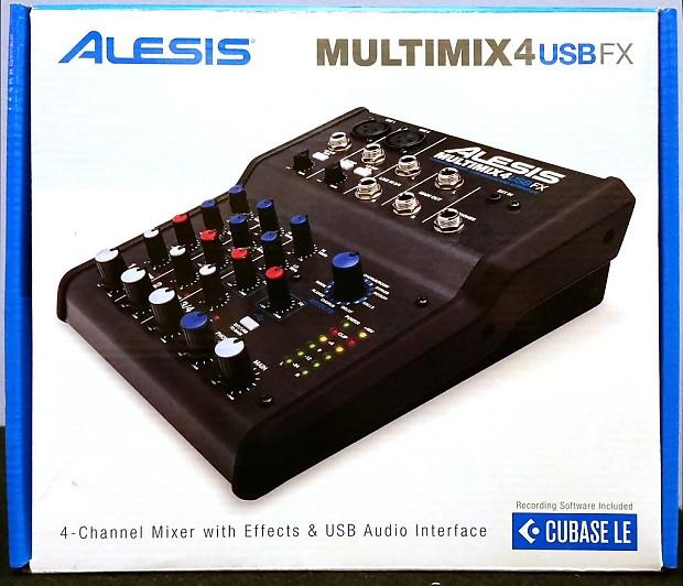 alesis multimix 4 usb 4 channel desktop audio microphone reverb. Black Bedroom Furniture Sets. Home Design Ideas