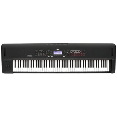Korg KROSS288MB 88 Key Natural Weighted Hammer Action Synthesizer/Workstation Keyboard Matte Black