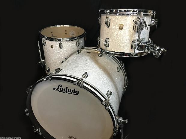 ludwig classic maple white marine pearl 3pc drum set atlas reverb. Black Bedroom Furniture Sets. Home Design Ideas