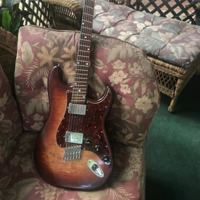 Novax strat fan fret electric guitar for sale