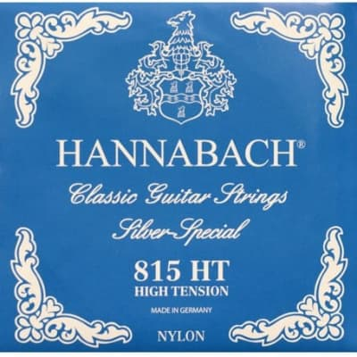 HANNABACH E815 HT CLASSICAL SET-SILVER SPECIAL - BLUE HIGH TENSION for sale
