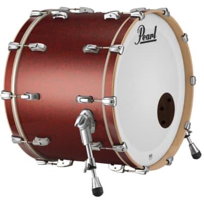 Pearl Masters Maple Complete Bass Drum 22x16 Vermilion Sparkle Lacquer