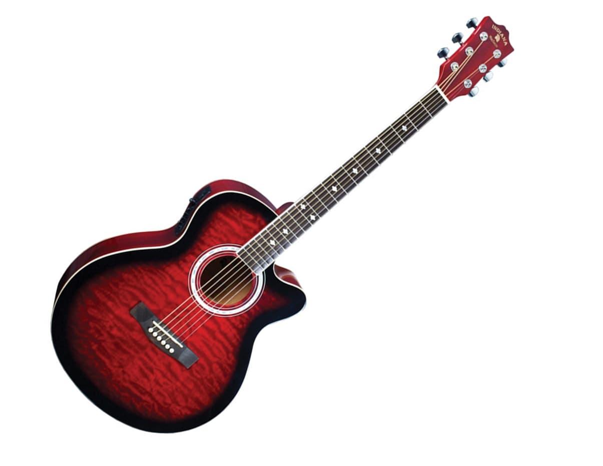 madison elite spruce quilt top acoustic electric guitar in reverb. Black Bedroom Furniture Sets. Home Design Ideas