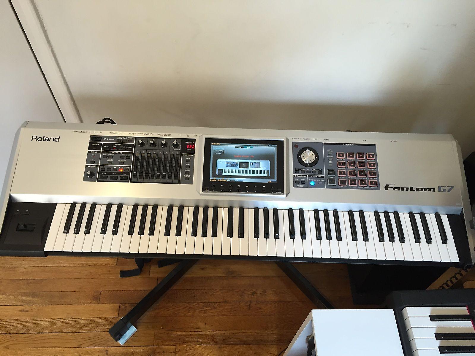 roland fantom g7 76 key workstation keyboard reverb. Black Bedroom Furniture Sets. Home Design Ideas
