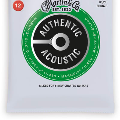 Martin MA140S Authentic Marquis Silked Light Acoustic Strings