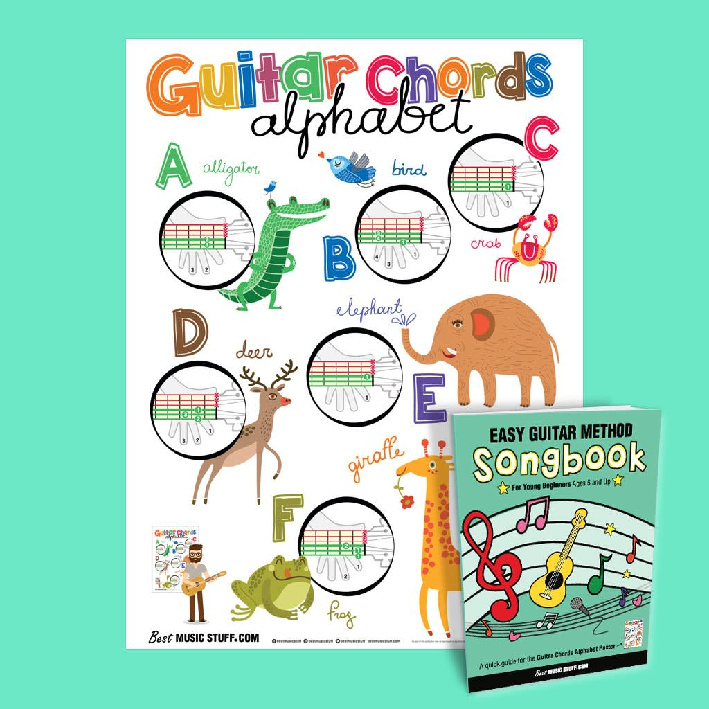 Guitar Chords Alphabet Kids Poster 19x27 With Reverb