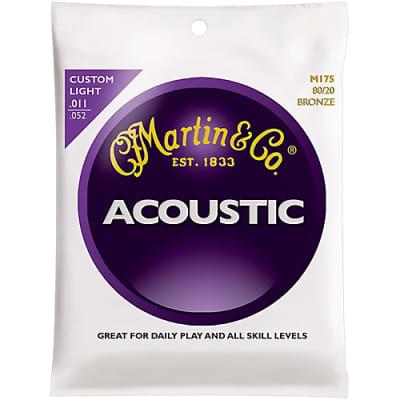 Martin MA175 80/20 Bronze Acoustic Guitar Strings, .011 - .052