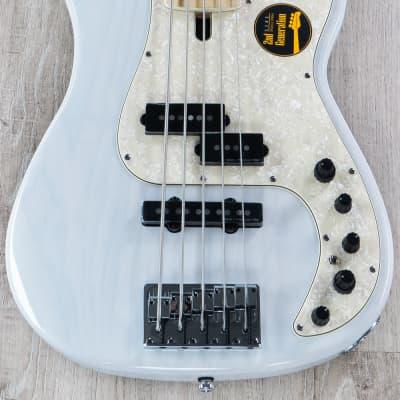 Sire P7 2nd Gen Bass Guitar, Swamp Ash, 5-String, WB White Blonde w/ Gig Bag