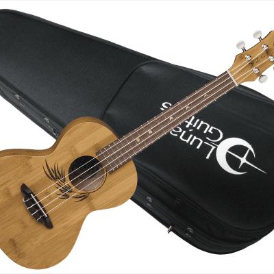 Luna UKE-BBASS-TAT Bari-Bass Ukulele Tattoo with Electronics