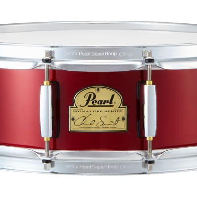"""Pearl CS1450R Limited Edition Chad Smith Signature 14x5"""" Steel Snare Drum"""