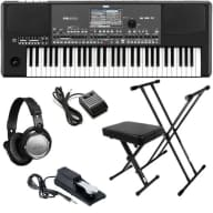 Korg Pa600QT Quarter Tone Professional Arranger Keyboard KEY ESSENTIALS BUNDLE