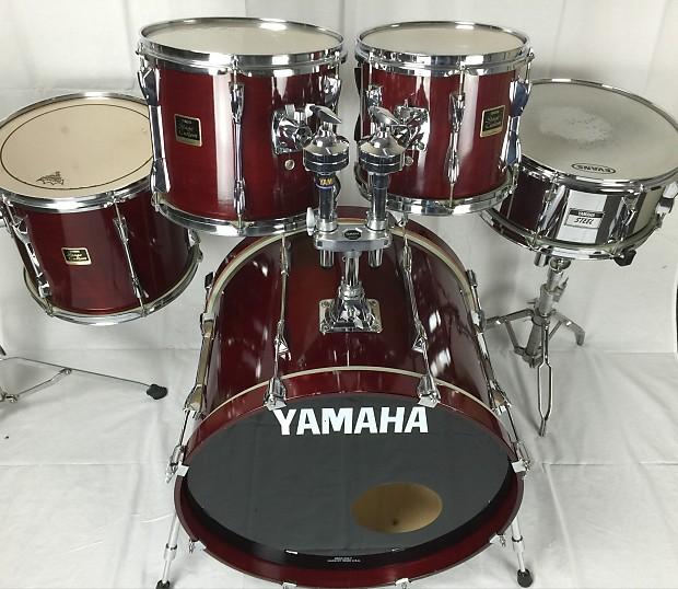yamaha stage custom red 5pc drum kit reverb. Black Bedroom Furniture Sets. Home Design Ideas