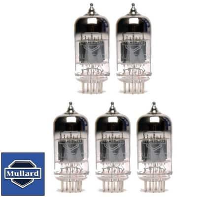 Brand New Gain Matched Quintet (5) Mullard Reissue 12AU7 Vacuum Tubes image