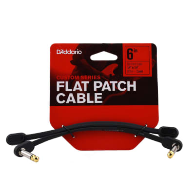 Daddario Flat Patch Cable, 6 Inch Right Angle, Twin Pack