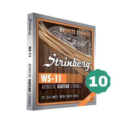 New Strinberg WS-11 Light Bronze Acoustic Guitar Strings (10-PACK)