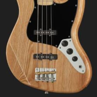 Harley Benton JB-75 MN NA Vintage Series Jazz Bass, 2020,  Natural Color