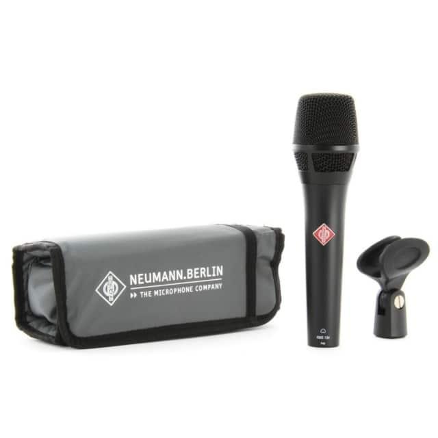 NEUMANN KMS 104 Professional Dual Purpose Live & Studio Vocal Mic in Black Matte Finish image