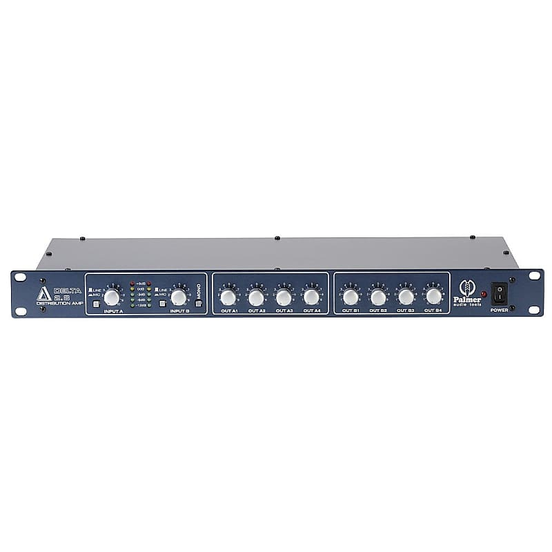 Palmer PRMD28 Stereo XLR Distribution Amp - Signal Splitter w/ 2 Inputs 8  Outputs - New In Box