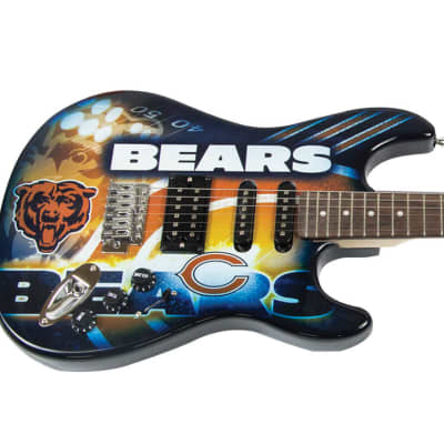 Chicago Bears Electric Guitar includes Bears Gig Bag, Bears Strap, Bears Picks & Free Ship for sale