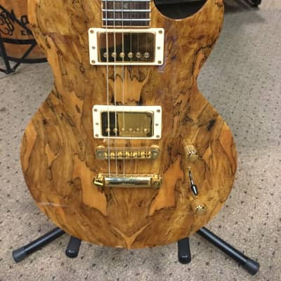 Brian Moore DC1 2002 Classic Natural Spalted Maple Gold Free Shipping! for sale