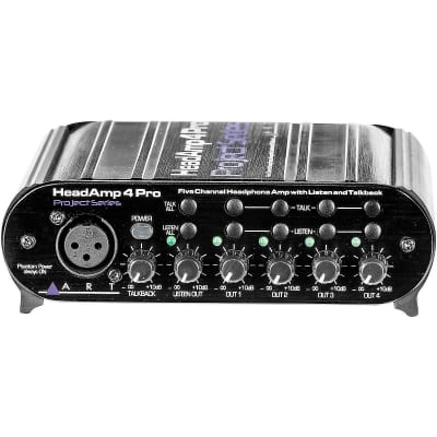 ART HeadAMP 4 Pro Five Channel Headphone Amplifier with Talkback New! Free 2-Day Delivery!