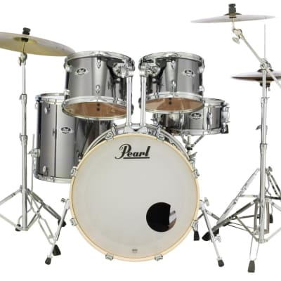 EXX725SZ/C21 Pearl Export 5pc Drum Set 830 Hardware and Cymbals SMOKEY CHROME