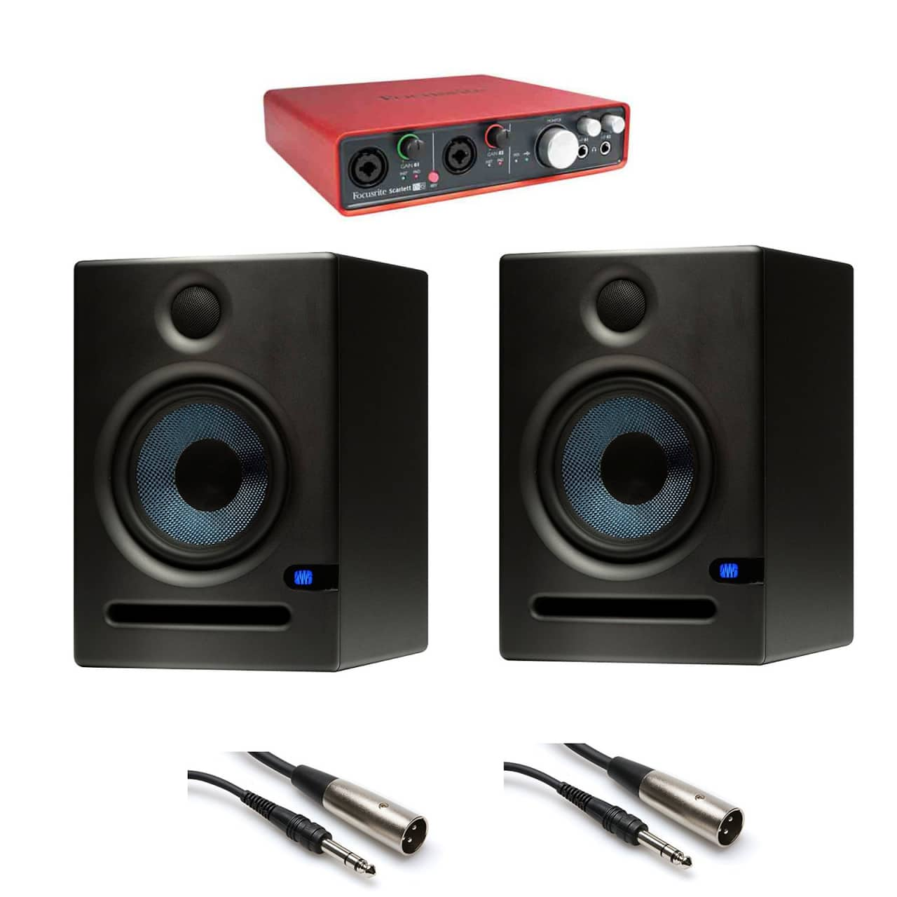 focusrite scarlett 6i6 usb audio interface with presonus eris reverb. Black Bedroom Furniture Sets. Home Design Ideas