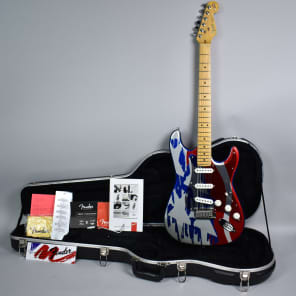 1993 Fender 40th Anniversary Aluminum American Flag Stratocaster Electric Guitar w/OHSC for sale