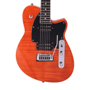 Reverend Reeves Gabrels Signature with Roasted Maple Neck Orange Flame Maple
