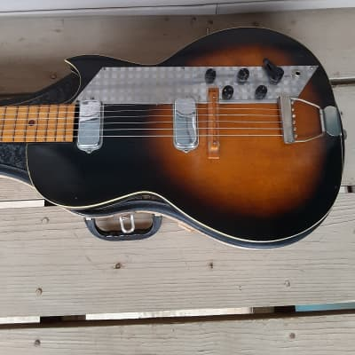 Vintage 1960's Kay Value Leader Electric Guitar w/ Original Case! for sale