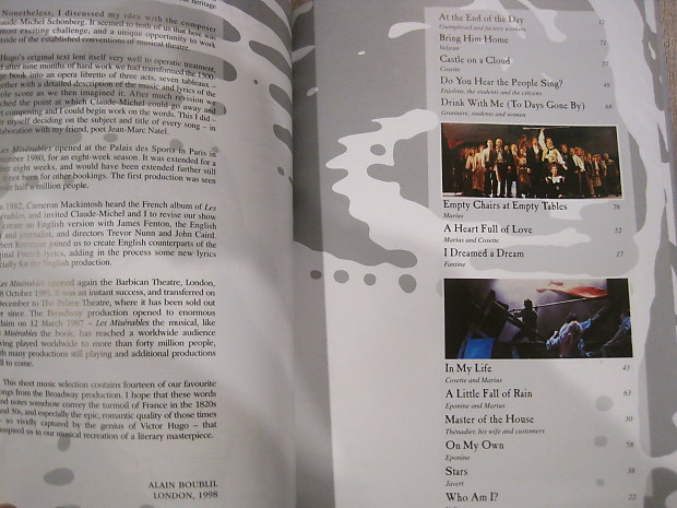 Les Miserables (musical) Sheet Music Song Book Easy Piano