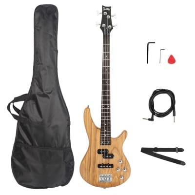 Glarry GIB Bass Guitar Full Size 4 String Burlywood for sale