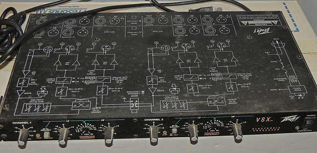 Peavey Vsx Electronic Stereo Crossover 2 Way 3 Reverbrhreverb: Schematic Peavey Crossover At Gmaili.net