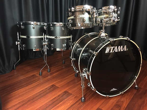 Tama drums sets Starclassic Performer BB Gun Metal Classic Stripe kit 10,  12, 14, 16, 22 PP52HS GMS